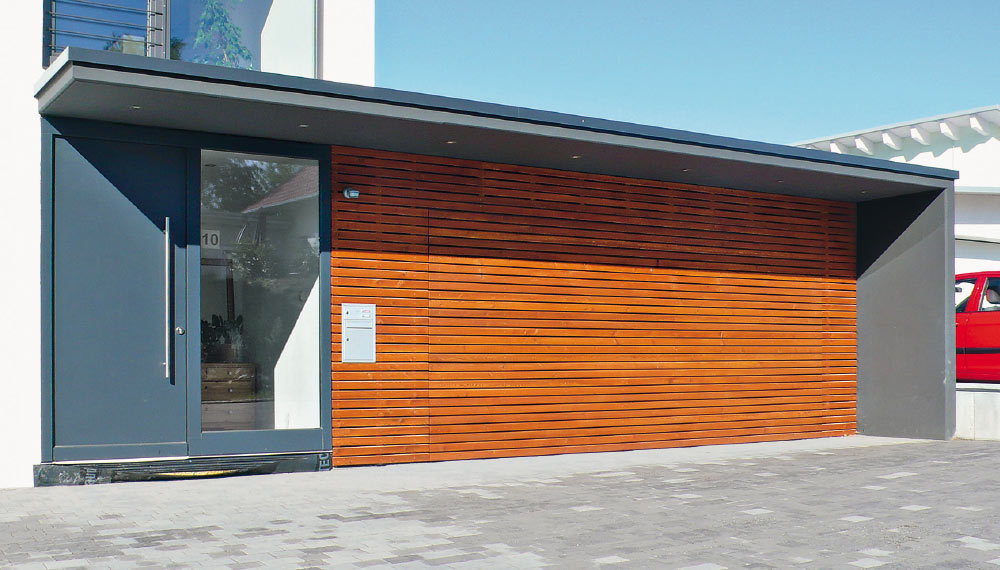 fassadentore garagentor als fassadenelement tbs. Black Bedroom Furniture Sets. Home Design Ideas